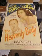 William Powell Hedy Lamarr The Heavenly Body Original 27x41 Movie Poster N1849