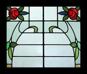 Amazing English Mackintosh Rose Floral Beauty Stained Glass Window