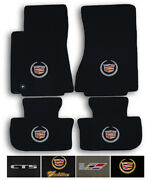 Lloyd Carpet 4pc Floor Mats For 2008-2014 Cadillac Cts-no Awd-pick Color And Logo