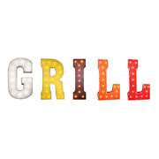 Grill Barbecue Picnic Bbq Grillin Rustic Vintage Metal Marquee Light Up Sign