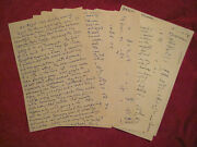 Kenneth Rexroth - Original Handwritten Diary - The Father Of Beat Literature
