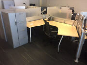 Used Office Cubicles Steelcase Post And Beam 8.5x6 Cubicles