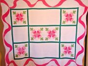 Antique Applique Rose Quilt Swag Borders 300+ More Quilts In Our Store