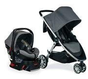Britax B-lively Stroller And B-safe Ultra Travel System In Gris Grey Brand New