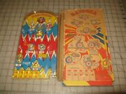 Vintage Bazooka Bagatelle Plastic Pinball Gameand039 Display Or Parts Only Marx Toys