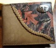 Zep Pro Fence Row Leather Camo Tennessee Volunteers Bifold Wallet Tin Gift Box