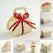 Ivory Silk Textured Wedding Favour Idea Gift Boxes Diy - 21 Styles - Box Only