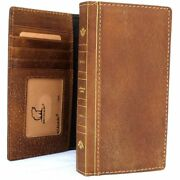 Genuine Leather Case For Iphone 8 Plus Cards Cover Bible Wallet Book Davis Case