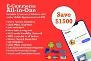 I Will Design Complete Ecommerce Or Classified Website With Native Apps