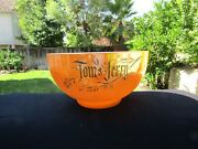 Fire King Peach Lustre Tom And Jerry Punch Bowl
