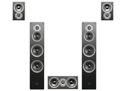 Swan Speakers/hivi-jam And Lab 6-5.0 Stereo Sleek Home Theater System-wood