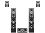 Swan Speakers/hivi-jam And Lab 8-5.0 Stereo Sleek Home Theater System-wood