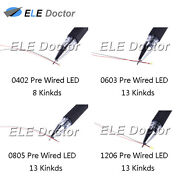 0402 0603 0805 1206 Pre-wired Smd Led Diodes Micro Mini Diy Toy Model Lights
