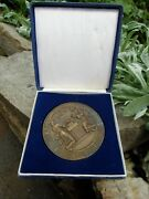 Vintage German Bronze Medal 50 Years Golden Marriage Lutheran Church 1920 In Box
