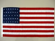 Uss Monitor 34 Star U.s. Outdoor Historical Dyed Nylon Flag Grommets 3and039x5and039