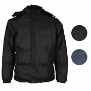 Menand039s Heavyweight Insulated Lined Jacket With Removable Hood Bigbear