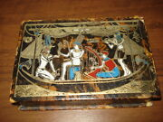 Vintage Old Cardboard Playing Cards Box 2 Deck Playing Card