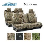 Coverking Custom Seat Covers Ballistic Canvas Front And Rear Row - Multicam Camo
