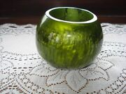 Unique Vintage Old Green Catalin Pen Holder Paperweight Lava Flow Green Catalin