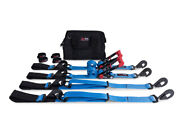 Speed Strap Essential Off Road 2andprime Tie Down Kit Twist Snap Hook Axle Wrap Blue