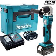 Makita Dda351z 18v Li-ion Angle Drill With 2 X 5.0ah Batteries And Charger In Case