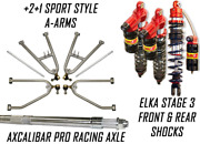 Lonestar +2 A-arms Axle Elka 3 Legacy Front Rear Shocks Suspension Kit Trx 450r