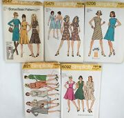 5 Simplicity Vintage Sewing Kits 60s/70s - Misses Size 10 And 12