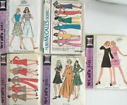 5 Mccall's Vintage Sewing Kits 60s/70s - Misses Size 10