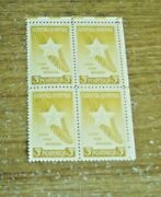 Us Postage Gold Star Mothers 3 Cent Stamp Block Of Four