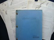 Film Noir Script - Johnny Cool - Signed By Star Henry Silva - With Many Papers