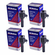 Set Of 4 Acdelco Bs-c1558 Ignition Coil For Chevrolet Gmc Hummer Buick 06-12