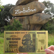 1x Zimbabwe 100 Trillion Banknote Gold Bill World Money Value Collection Gift Oo
