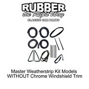 1973 - 1977 Chevy And Gmc Truck Master Weatherstrip Kit - W/out Windshield Trim