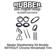 1978 - 1980 Chevy And Gmc Truck Master Weatherstrip Kit - Without Windshield Trim