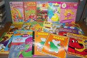 Lot 18 Full Size Coloring Books Activity Sesame Street Noahand039s Ark Clifford Babar