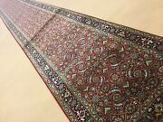 2andrsquo.6andrdquo X 22andrsquo Red Navy Very Fine Geometric Oriental Rug Long Runner Hand Knotted
