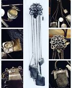 The Best Rare Antique Sterling Hallmarked Multi-piece Chatelaine Must See