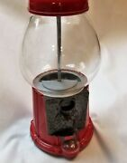 Carousel Industries Counter Top Gumball Machine With Rare Red Stand