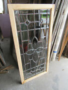 Antique Full Beveled Etched Leaded Glass Transom Window 56 X 26 Salvage