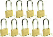 Master Lock Solid Brass 175lh Lot Of 9 Set To Your Own Combination Padlock