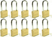 Master Lock Solid Brass 175lh Lot Of 10 Set To Your Own Combination Padlock