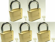 Master Lock Solid Brass 175 Lot 5 Set To Your Own Combination Padlock