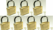 Master Lock Solid Brass 175 Lot 7 Set To Your Own Combination Padlock