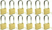 Master Lock Solid Brass 175lh Lot Of 12 Set To Your Own Combination Padlock