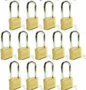 Master Lock Solid Brass 175lh Lot Of 13 Set To Your Own Combination Padlock