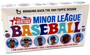 2018 Topps Heritage Minor League Baseball Hobby 12 Box Case Blowout Cards