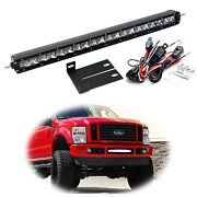 Behind Upper Grill 20 Led Light Bar W/bracket/wiring For 2008-10 Ford F250 F350
