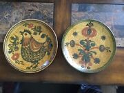 Vintage Anton Lang Germany Set Of 2 Ceramic Wall Chargers
