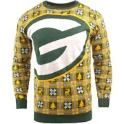 Nfl Ugly Sweater Green Bay Packers Pullover Christmas Big Logo Style Football 18
