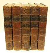 1765 Francis Bacon Complete Works 5 Volume Leather Bound Book Set Original Nice